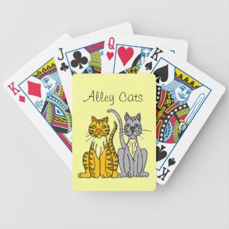 Funny Alley Cats Orange Gray Animal Poker Deck