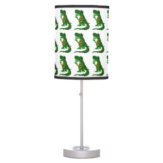 Funny Alligator Art Table Lamp