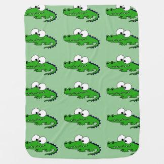 Funny Alligator Baby Blanket