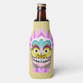 Funny Aloha Tiki Hut Monster Bottle Cooler