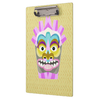 Funny Aloha Tiki Hut Monster Clipboard