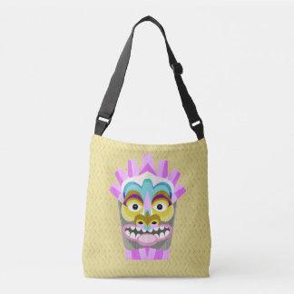 Funny Aloha Tiki Hut Monster Crossbody Bag
