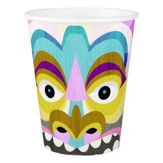 Funny Aloha Tiki Hut Monster Paper Cup