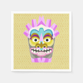 Funny Aloha Tiki Hut Monster Paper Napkins