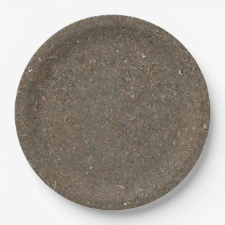 Funny Already-Dirty Soil-Textured 9 Inch Paper Plate