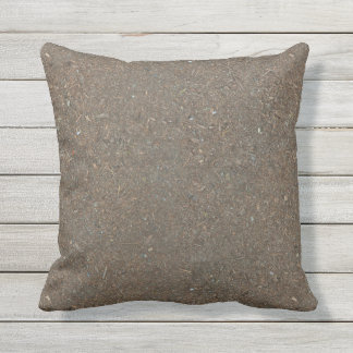 Funny Already-Dirty Soil-Textured Outdoor Pillow