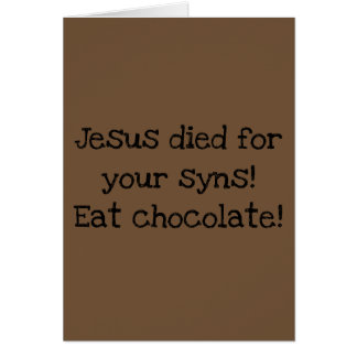 Funny/Alternative Easter Card/Dieting Card
