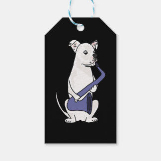 Funny American Bulldog Playing Saxophone Pack Of Gift Tags