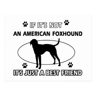 funny AMERICAN FOXHOUND designs Postcard