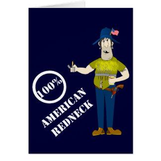 Funny American Redneck Card