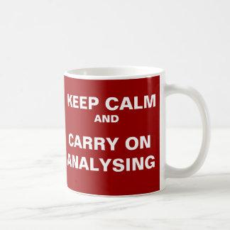 Funny Analyst Quote - Keep Calm Analysing Coffee Mug