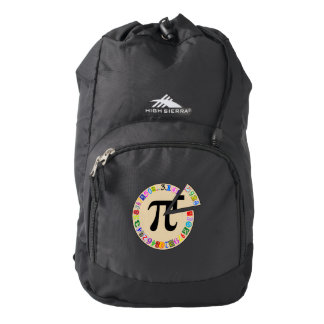 Funny and Colorful Piece of Pi Calculated Backpack