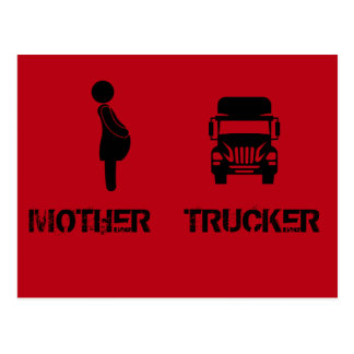 Funny and cool Mother Trucker by Storeman Postcard