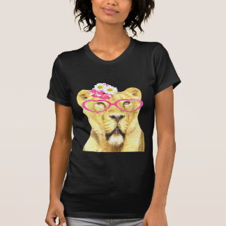 Funny and cute animal lioness watercolor T-Shirt