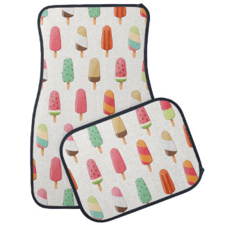 Funny and cute colored ice creams pattern car mat