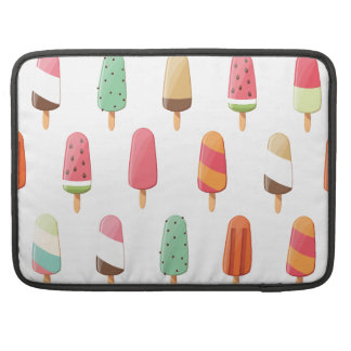 Funny and cute colored ice creams pattern sleeve for MacBooks