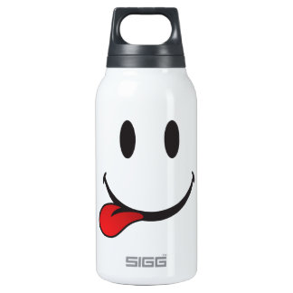 Funny and Cute Sticking out tongue Emoji Insulated Water Bottle