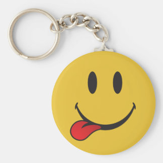 Funny and Cute Sticking out tongue Emoji Keychain