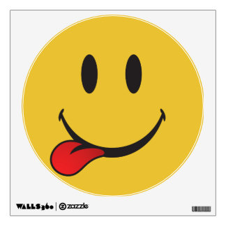 Funny and Cute Sticking out tongue Emoji Wall Sticker