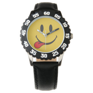Funny and Cute Sticking out tongue Emoji Wristwatches
