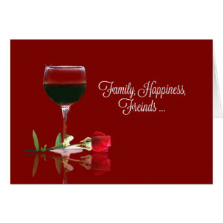 Funny and Elegant Wine Happy Birthday Card