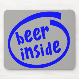 Funny and Modern Beer Inside Mouse Pad
