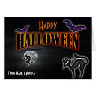 Funny and Simple Halloween Greeting Card
