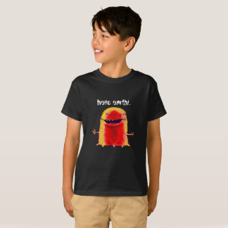 funny and weird alien cartoon style illustration T-Shirt