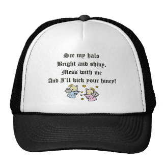 Funny Angels T-shirts Gifts Mesh Hat