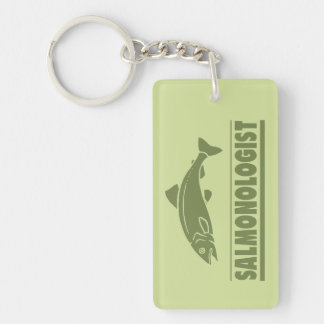 Funny Angler's Salmon Fishing Keychain