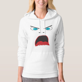 Funny angry face hoodie