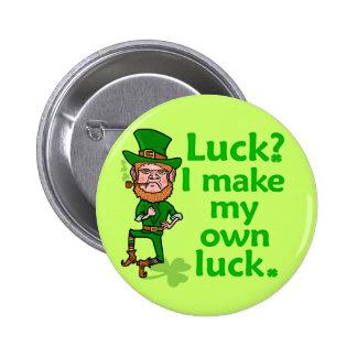 Funny Angry Lucky Irish Leprechaun 2 Inch Round Button