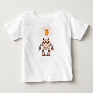 Funny Angry Neon Cat With Gamepad Controller Baby T-Shirt