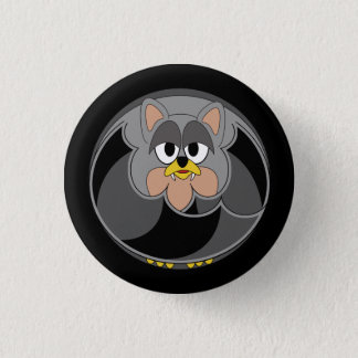 Funny animal, bat 1 inch round button