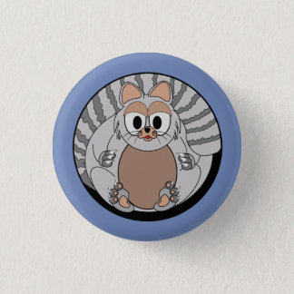 Funny animal, cat 1 inch round button