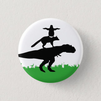 funny animal dinosaur fox penguin pyramid 1 inch round button