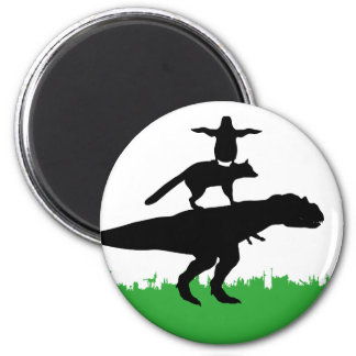 funny animal dinosaur fox penguin pyramid 2 inch round magnet