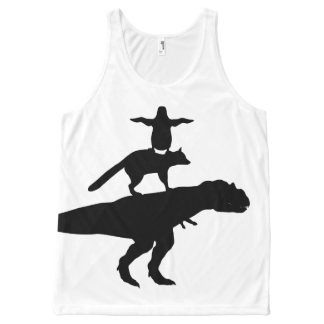 funny animal dinosaur fox penguin pyramid All-Over-Print tank top