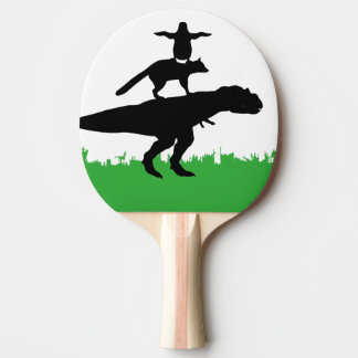 funny animal dinosaur fox penguin pyramid ping pong paddle