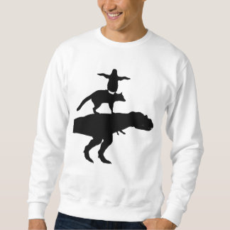 funny animal dinosaur fox penguin pyramid sweatshirt