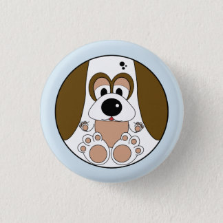 Funny animal, Dog 1 Inch Round Button
