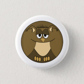 Funny animal, Owl 1 Inch Round Button