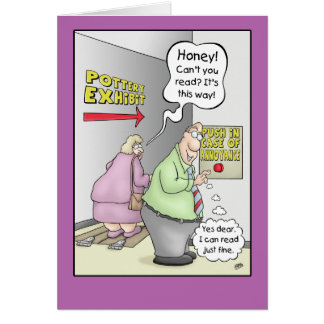 Funny Anniversary Cards: Push in Case Of 2 Card