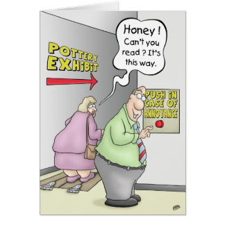 Funny Anniversary Cards: Push in Case Of Greeting Card