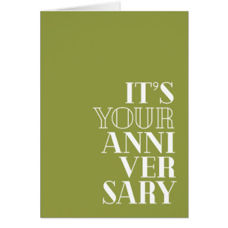 "Funny Anniversary, ""Congratulations?"" 