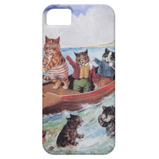 Funny Anthropomorphic Cats Vintage Wain iPhone 5 Case