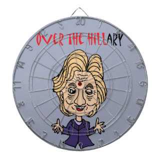 Funny Anti Hillary Clinton Political Art Dartboard