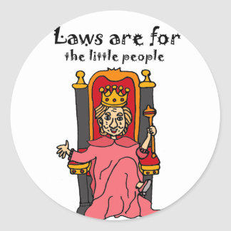 Funny Anti Hillary Political Cartoon Round Sticker