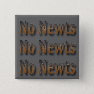 Funny Anti Newt Gingrich Chant 2 Inch Square Button