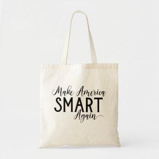 Funny Anti-Trump Make America Smart Again Resist Tote Bag